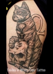 Egyptian Mummy Cat tattoo