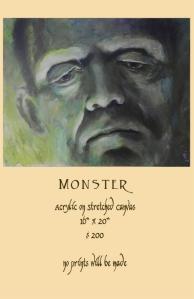 (Frankenstein's) Monster painting for sale
