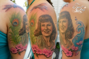 Ashley's Grandma portrait tattoo