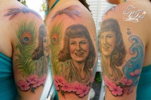 Ashley's Grandma portrait tattoo