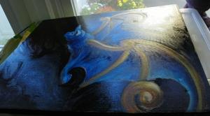 Fu bat painting