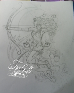 Diana tattoo design