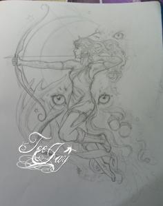 Diana tattoo design