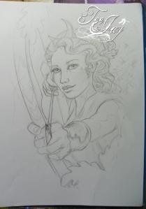 Meghan's Diana tattoo design