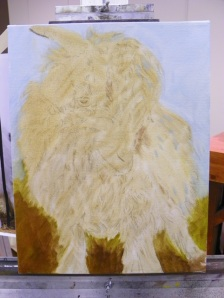 underpainting for goat