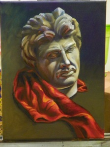 bust study oil painting