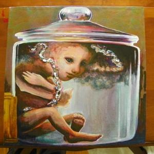 Work in Progress Acrylic Baby in Jar