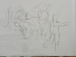 gesture drawings charcoal
