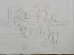 gesture drawings charcoal