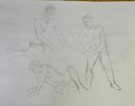 gesture drawings charcaol