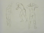 gesture drawings with charcoal