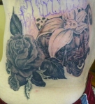 Silverback healed in rose tattoo