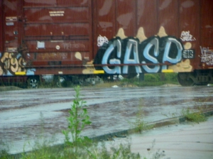 train graffiti GASP