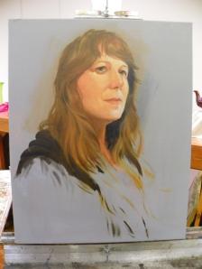 self portrait in porgress