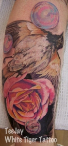 Dead Bird,Roses & Bubbles Tattoo