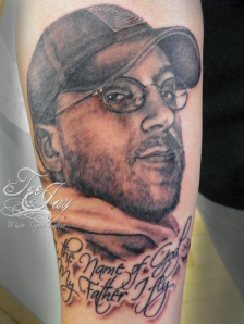 tribute portrait tattoo
