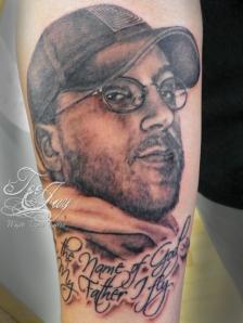 tribute portrait tattoo