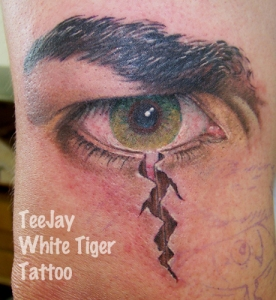 Angry Eye tattoo