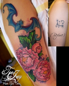 FuBat and flowers tattoo