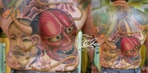 Bernie's full back tattoo