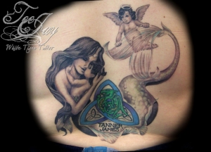 Mother mermaid tattoo