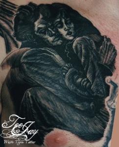 woodcut tattoo