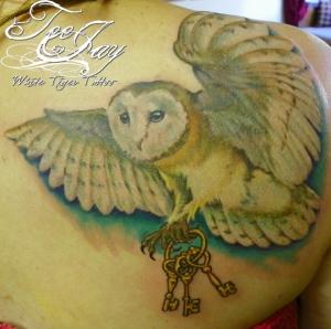owl keys tattoo