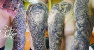 Odin & Tyr Celtic tattoo