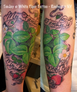 Seneca Strawberry tattoo