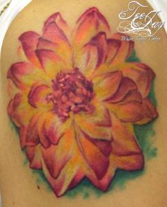 no outline flower tattoo