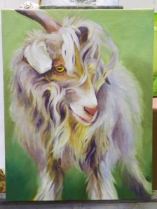 goat oil painting