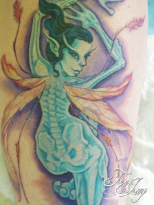 see through fairie tattoo