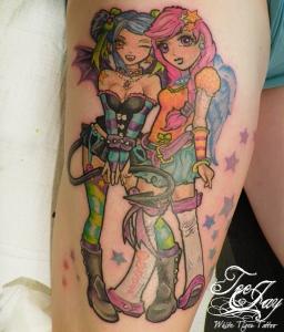 anime girls tattoo