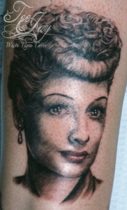 Lucille Ball tattoo