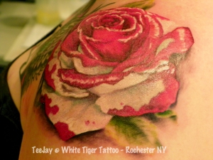 """painting the roses red"" tattoo"