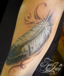 eagle feather tattoo