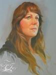 oil painting TeeJay self portrait