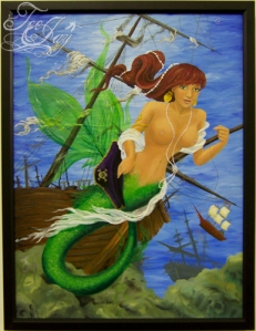 """Come Play with Me"" mermaid painting"