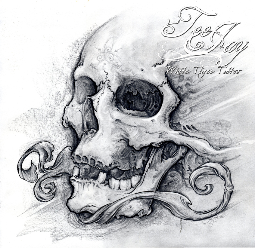 Gallery For gt Skull Drawing In Pencil