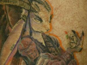 Rabbit Tattoo close up