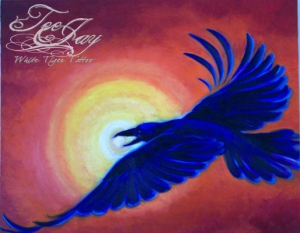 raven returns painting