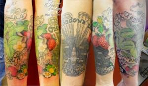 Seneca half sleeve tattoo