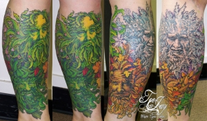 Greenman Four Seasons tattoo