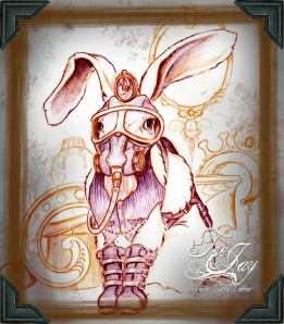 steam punk bunny sketch