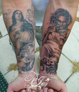 Madonna Whore tattoos
