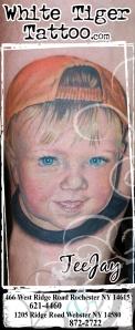 color portrait tattoo Rochester NY