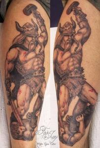 violent viking tattoo