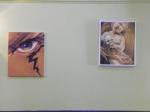 eye painting and cherub painting