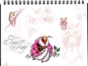 random sketch pad drawings