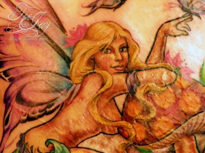 fairy tattoo detail